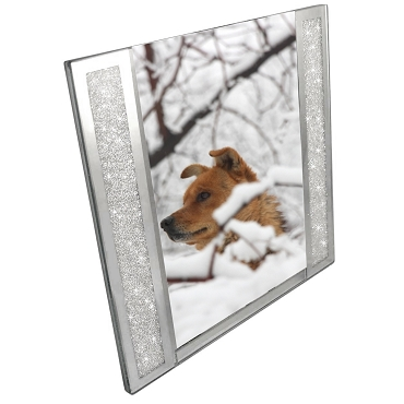 NSW57 - 5x7 Picture Frame with Genuine Crystals-Filled Sides