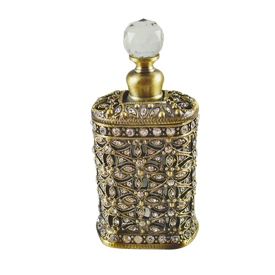 NC315 - Antique Gold - Bronze Gold Tone Perfume Bottle