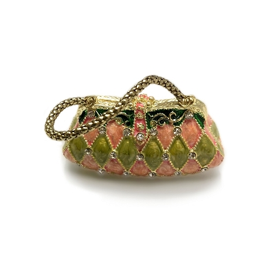 NCBAG3 - Small Colorful Lady Handbag  With Genuine Crystals Jewelry box