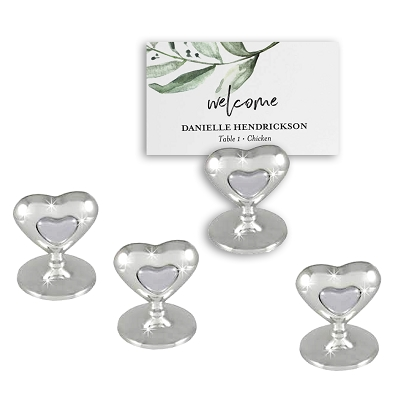 NCCRD2 - Set of 4 - Double Heart Design Card / Place Holder