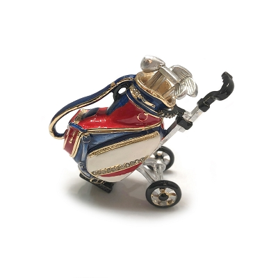 NCGOL- Golf Bag With Genuine Crystals Jewelry box