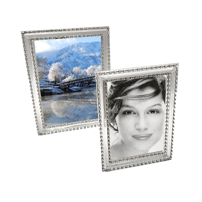 NCP46W - 4x6 Full Clear Optical Glass with Crystal Edging Picture Frame
