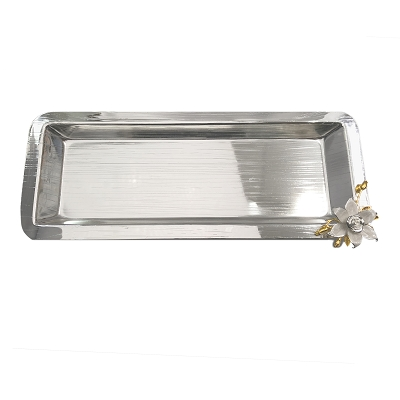 NCSA104 - Nickle Plated Silver Tone Tray
