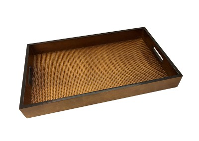 NCSA14 - Simply Elegant Brown Wooden Frame Serving Tray