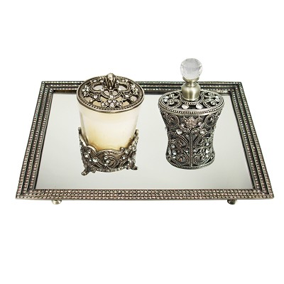 1) Mirror Tray 2) Candle Holder 3) Perfume Bottle